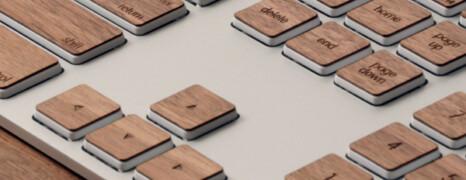 Drewniane klawisze klawiatury
