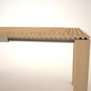 Składany stół drewniany