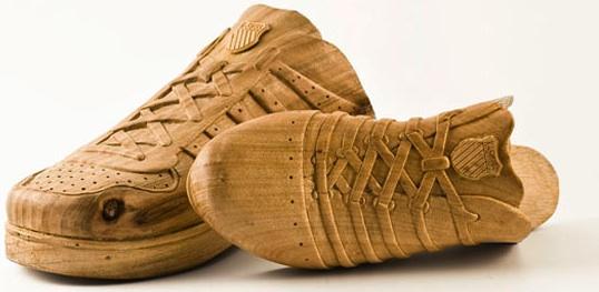 drewniane chodaki - wystrój