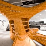 Stoisko – drewniane fale