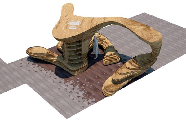 stoisko z drewna