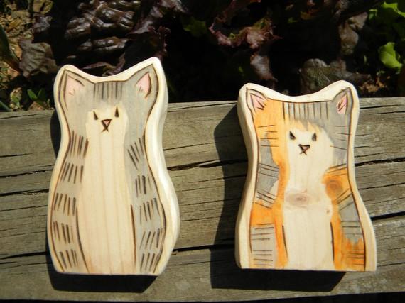 Rzeźby kotów
