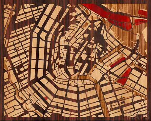 Amsterdam, Holandia. Heban Macassar Ebony, Klon, Padauk i Zebrano
