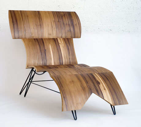 fotel wypoczynkowy z gietej sklejki