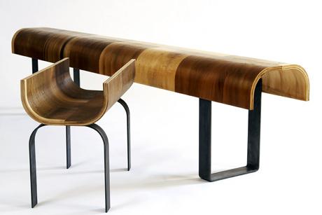 krzesło i dłuższy stół